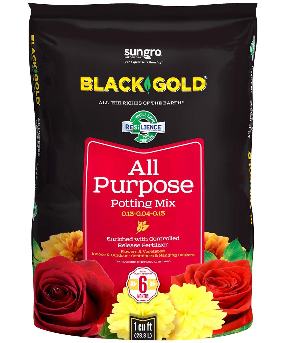 Black Gold 1 Cu-Ft. All Purpose Potting Soil Mix 0.13-0.04-0.13