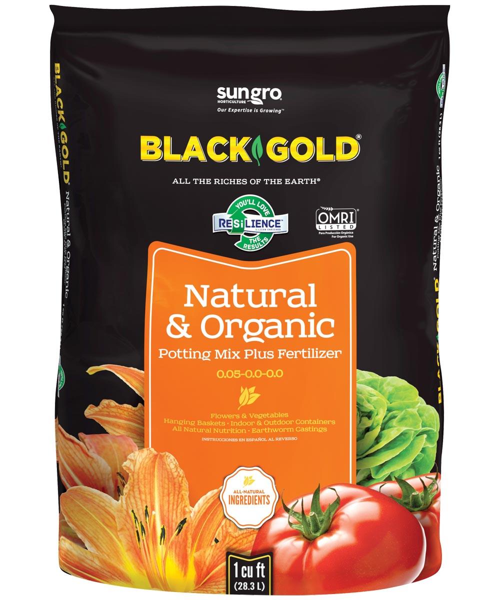 Black Gold 1 Cu-Ft. Natural & Organic Potting Mix Plus Fertilizer 0.05-0.0-0.0