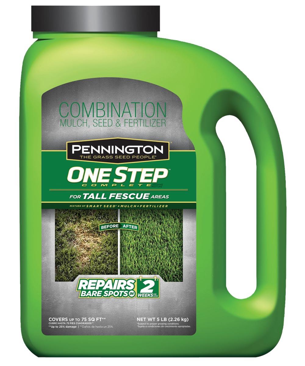 Combination Mulch Seed and Fertilizer, 5 lb., Jug, 20 sq-ft For 1 lb., Dark-Green