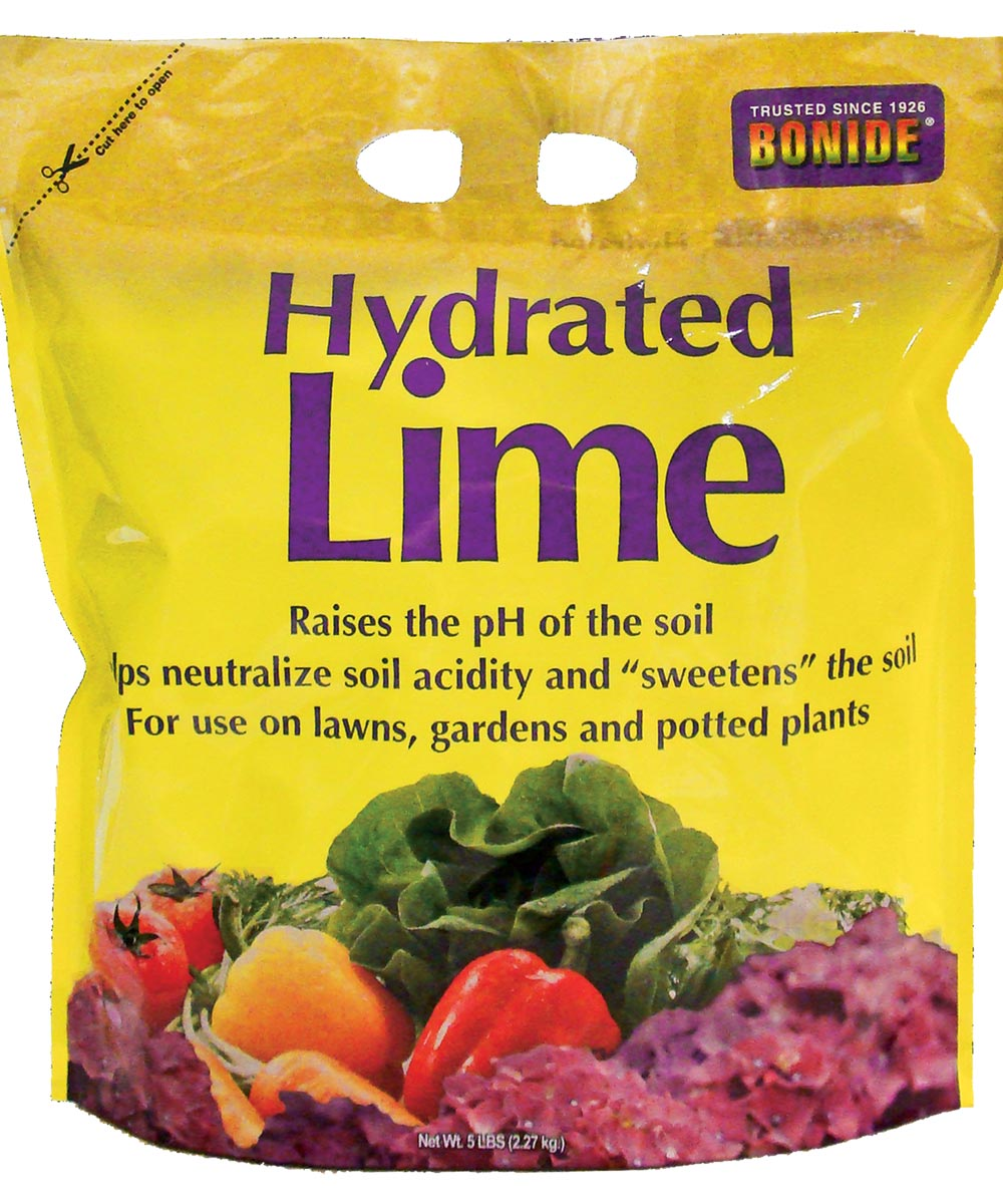 Hydrated Lime for Lawns / Gardens / Potted Plants, 5 lbs.