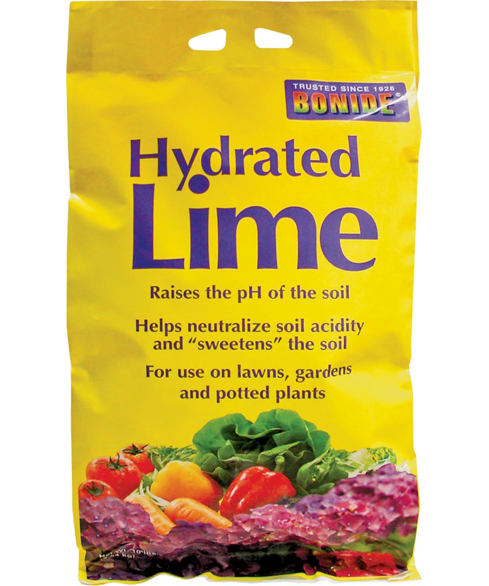 Hydrated Lime for Lawns / Gardens / Potted Plants, 10 lbs.
