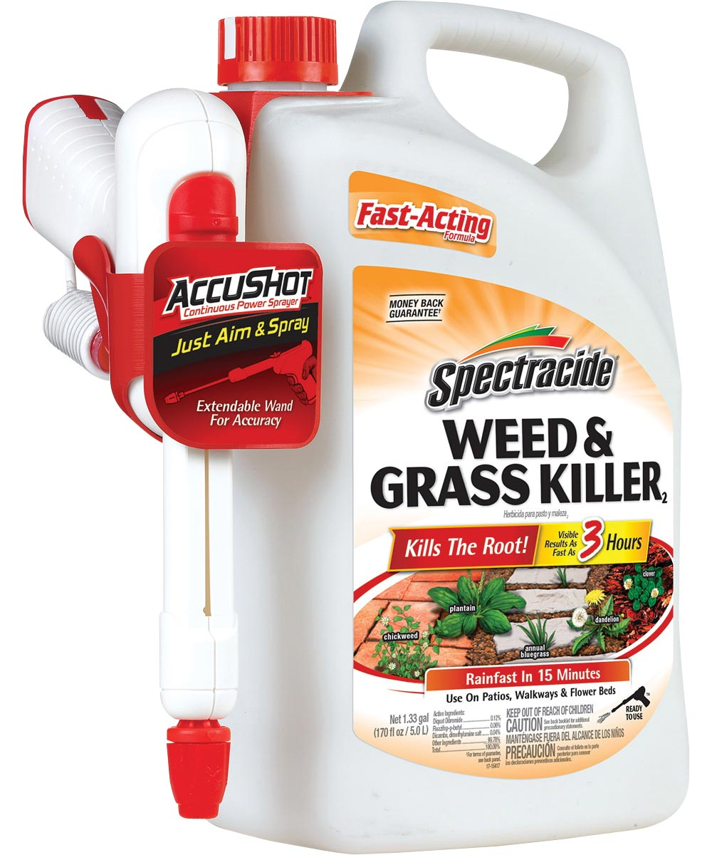 Spectracide Fast Acting Weed and Grass Killer, 1.33 gal, Light-Yellow To Light Brown, Liquid