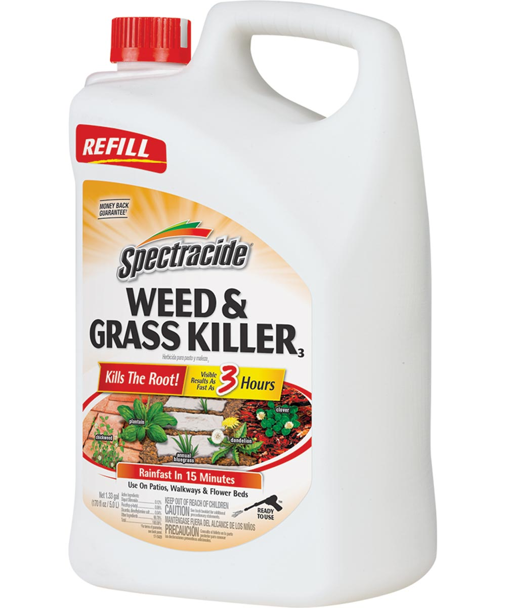 Spectracide Weed and Grass Killer, 1.33 gal, Amber, Liquid