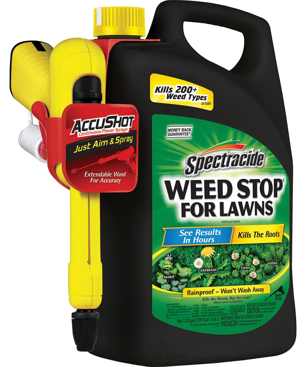 Spectracide Weed Killer, 1.33 gal, Bottle, 0.046 lb. For 1000 sq-ft/Acre, Clear/Light Yellow, Liquid