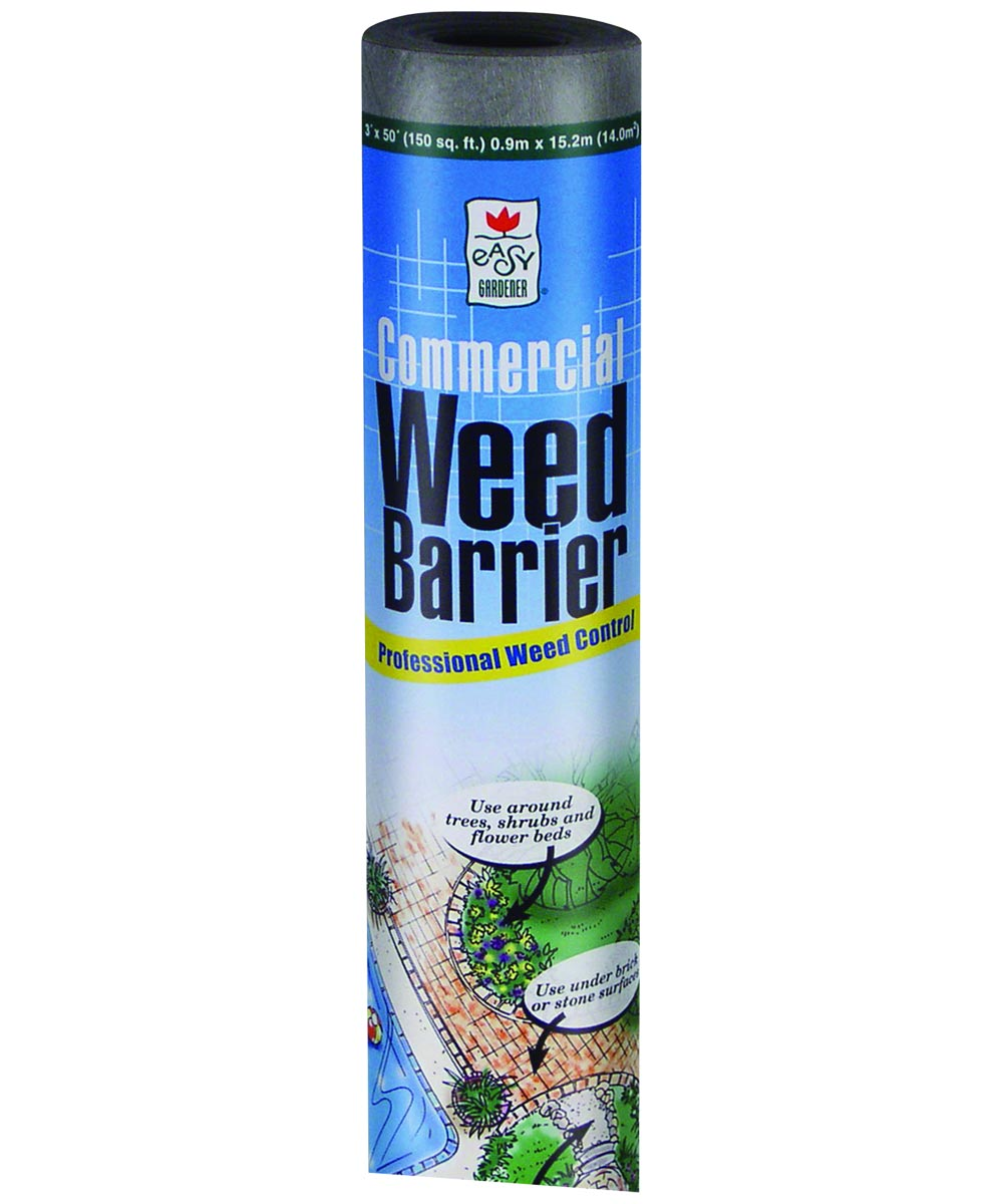 Commercial Weed Barrier, 4 ft. (W) x 50 ft. (L), Gray