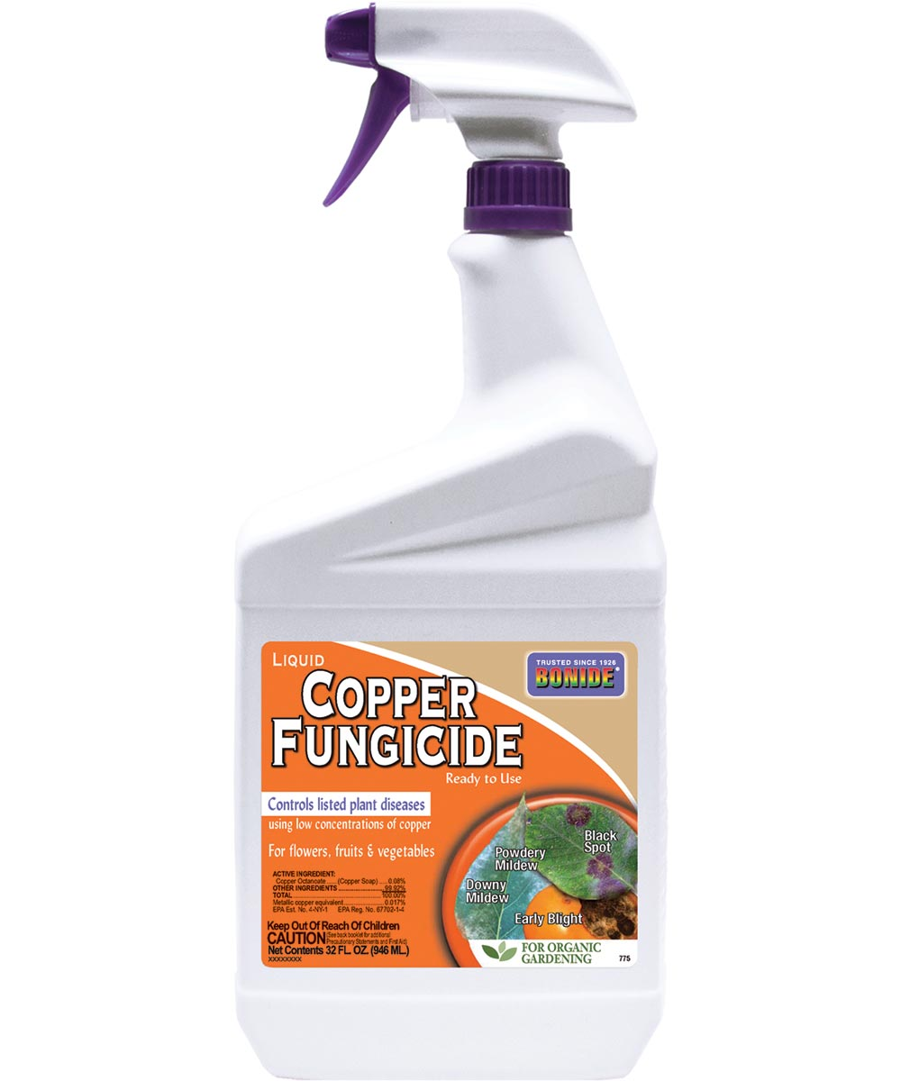Ready-To-Use Fungicide, 1 qt, Bottle, Blue, Liquid