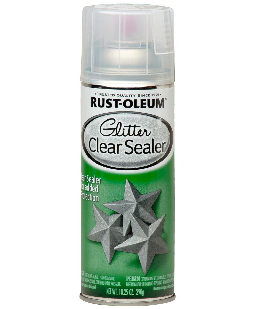 Specialty Glitter Spray Paint, 10 25 oz Spray Paint, Clear Sealer