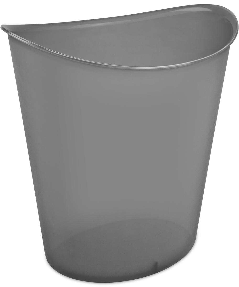 11.75 in. x 9.5 in. x 12.63 in. 3 Gallon Gray Tint  Oval Wastebasket