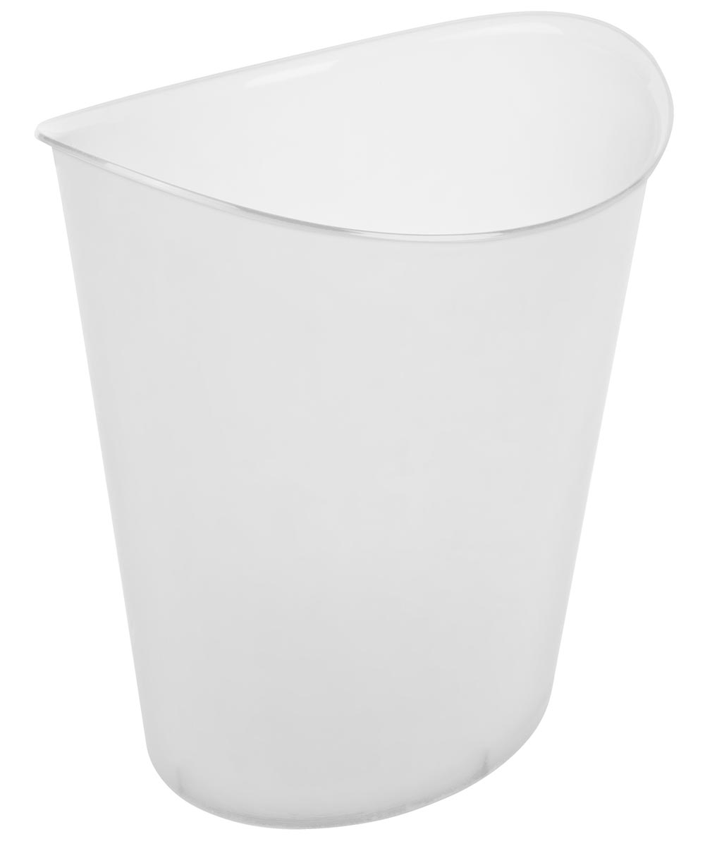 11.75 in. x 9.5 in. x 12.63 in. 3 Gallon White Oval Wastebasket