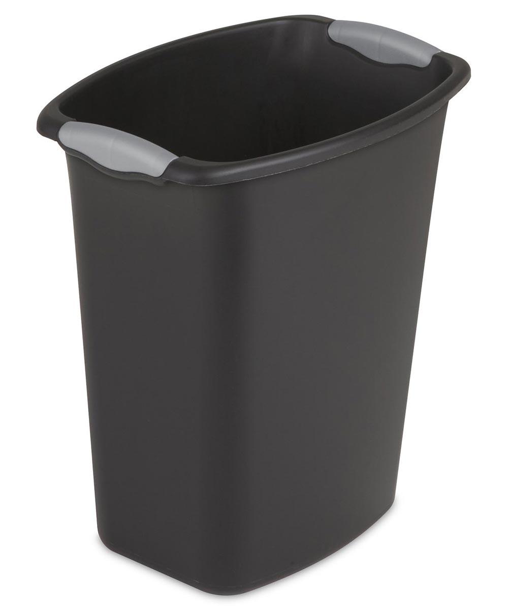 3 Gallon Wastebasket Trash Can, Black