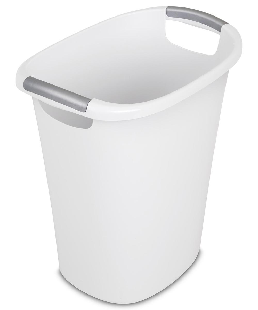 Sterilite 6 Gallon Ultra Wastebasket, White
