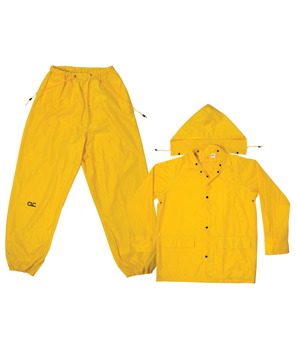 3 Piece Medium Yellow Rain Suit