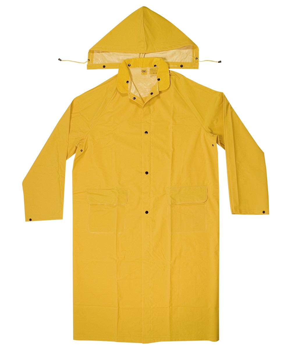 2 Piece Extra-Large Yellow Trench Coat