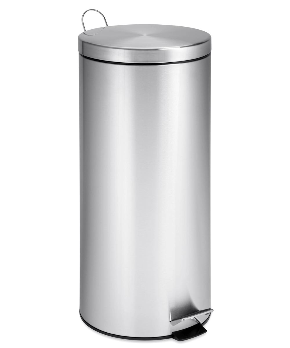 30 Liter Stainless Steel Round Step Can
