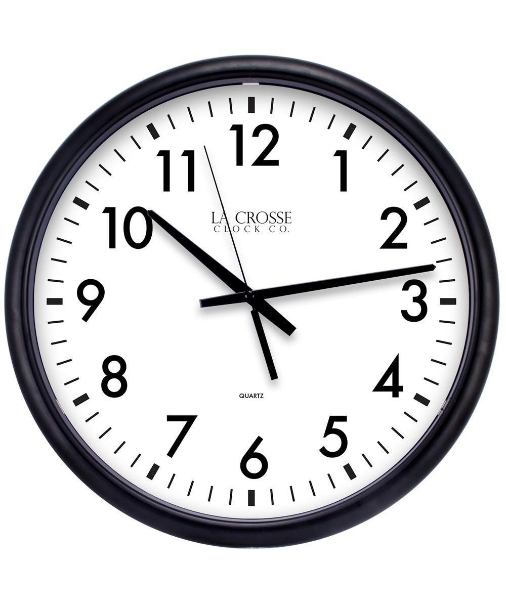 13.5 in. Black Quartz Wall Clock