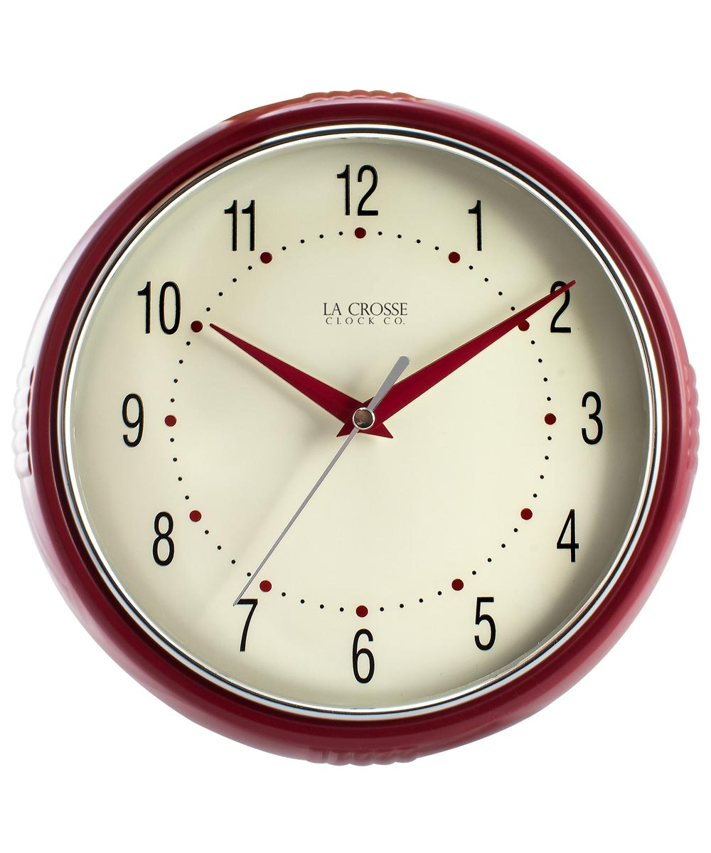 9.5 in. Red Wall Clock