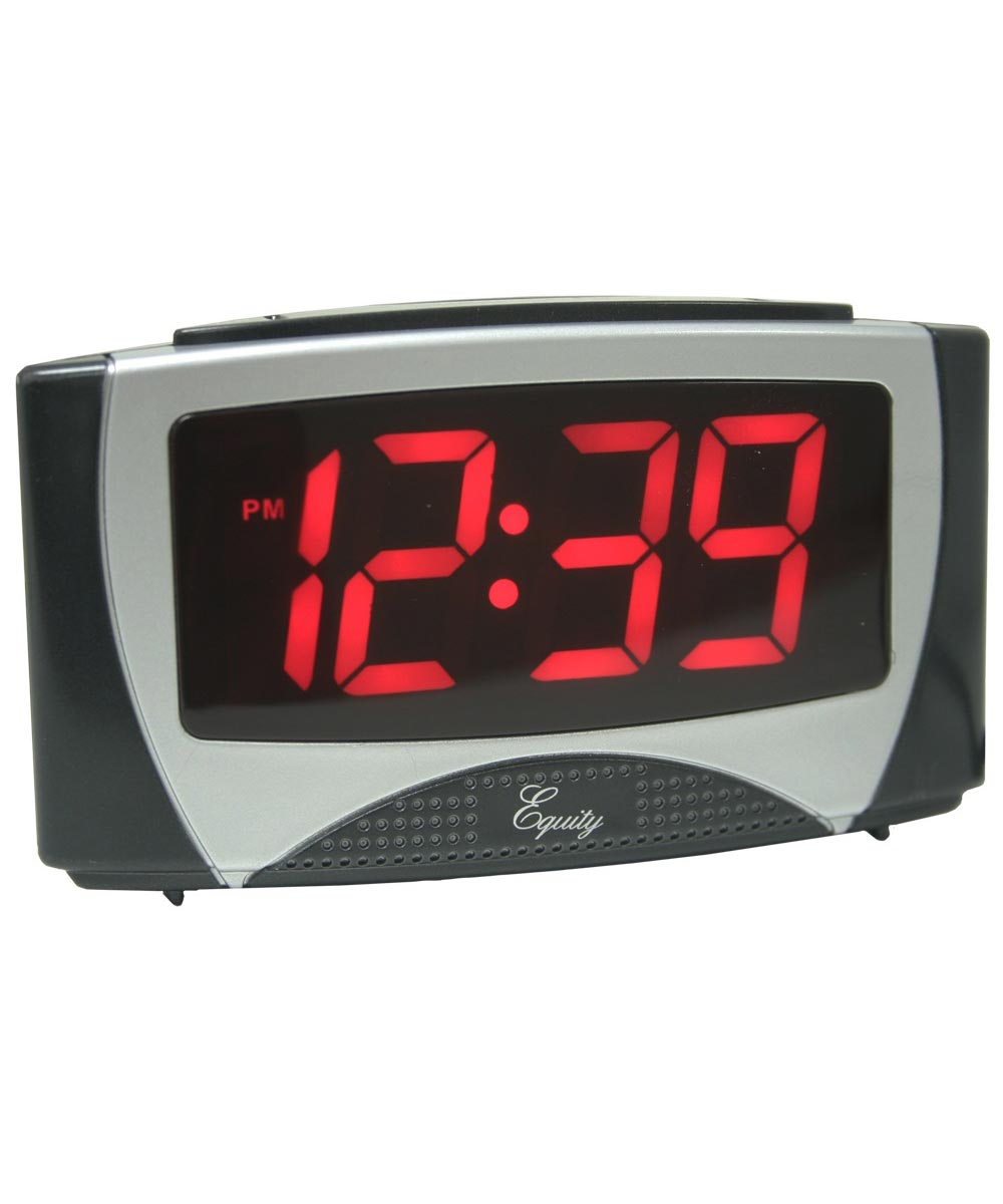 6 in. Large White LED Alarm Clock With Night Light