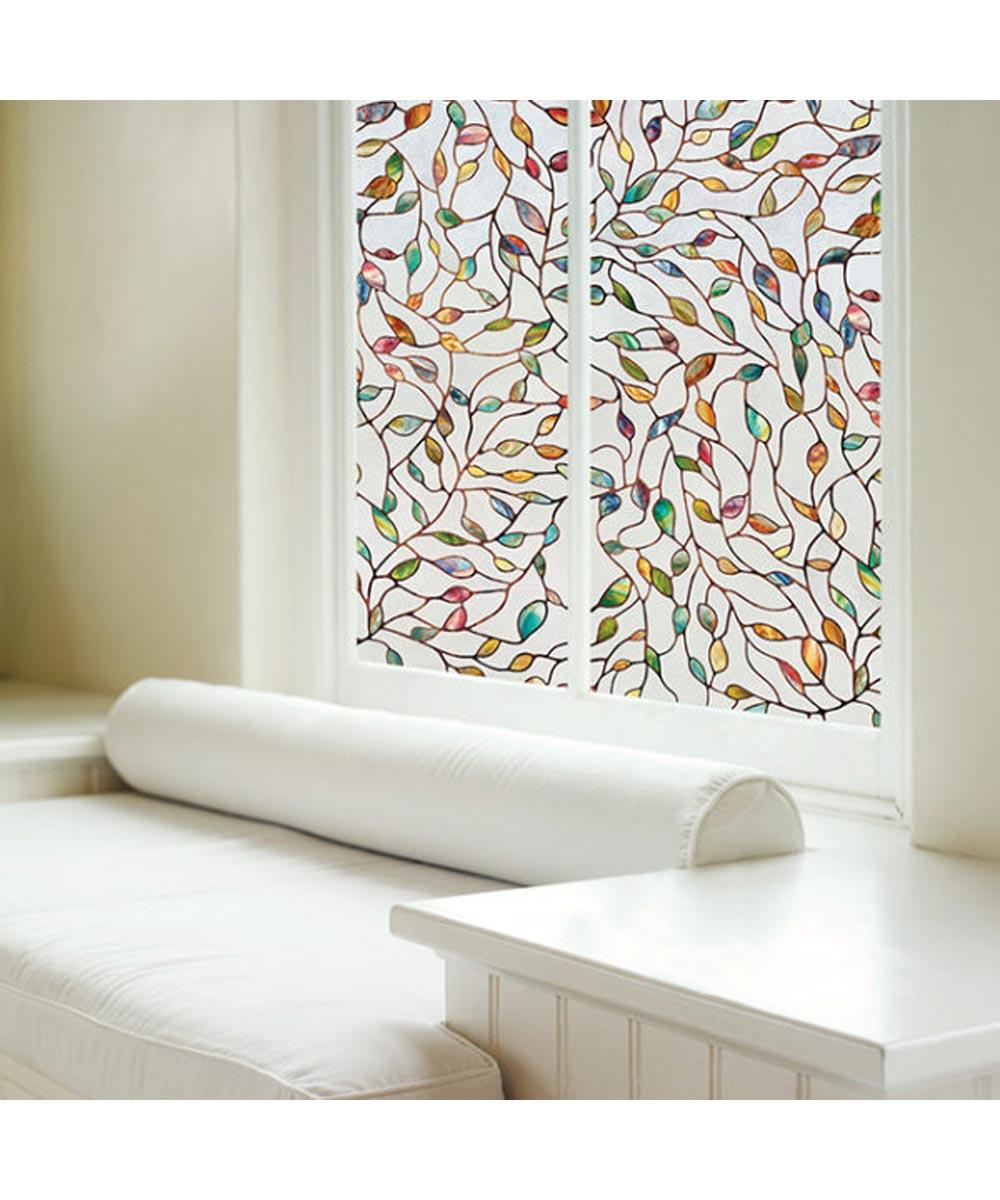 New Leaf Decorative Window Film, 24 in. (W) x 36 in. (L)