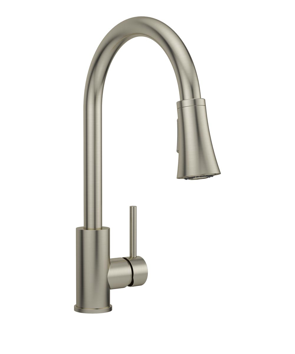 1-Handle Kitchen Faucet With Pull Down, Brushed Nickel