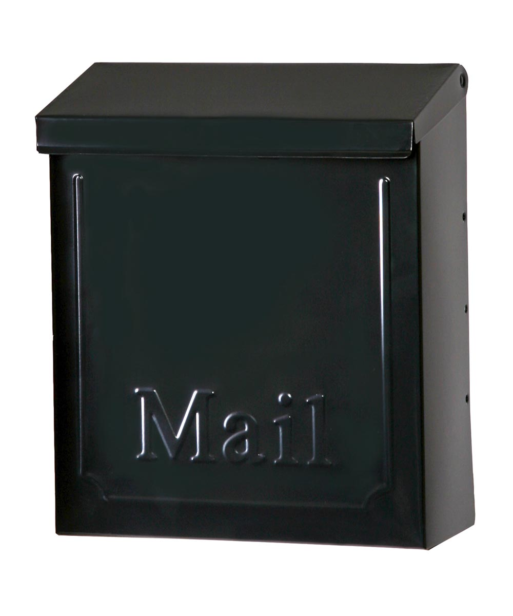 10.75 in. Black Townhouse Wall Mount Mailbox