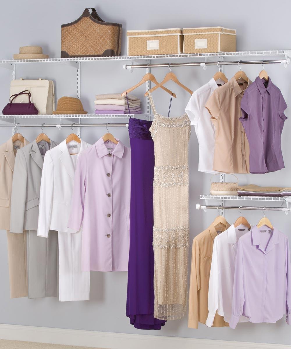 Rubbermaid 4-8 ft. Configurations Classic Custom Closet Kit, White