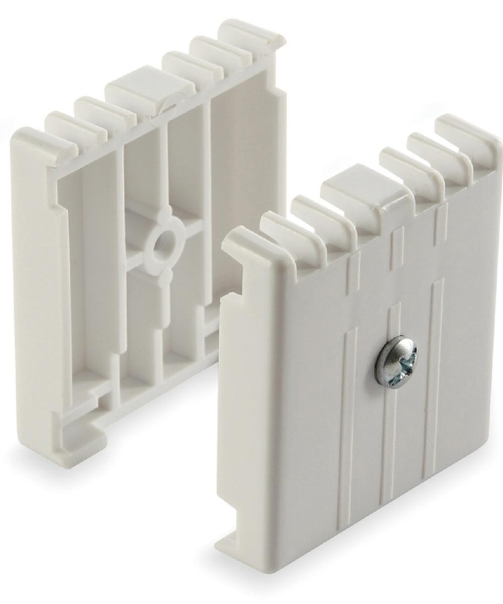 8.5 in. White Direct Mount Joiner Plate