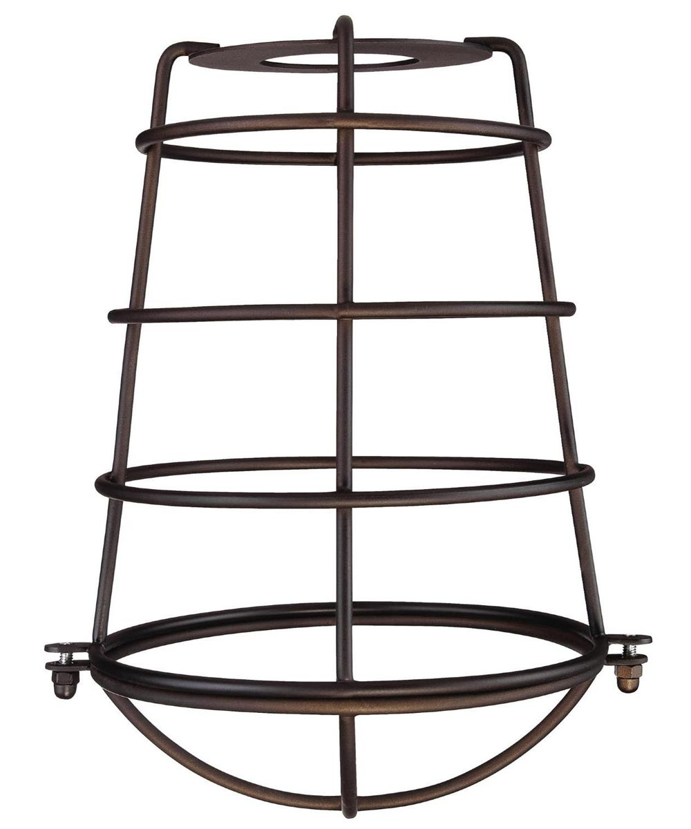 Westinghouse 8-3/16 in. Industrial Cage Neckless Metal Shade, Bronze