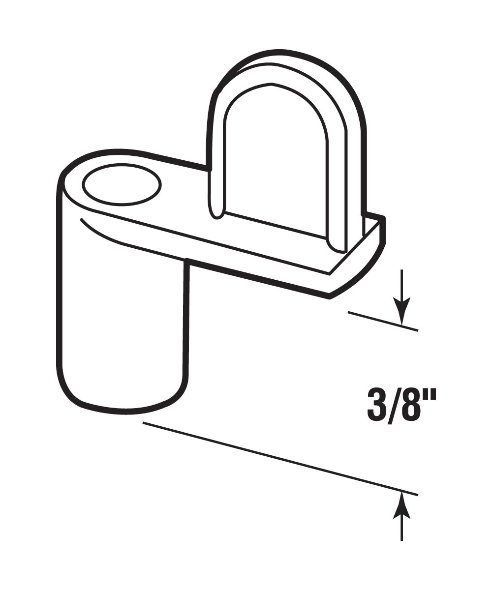 L 5824 Window Screen Clip with 1-Inch Screw, 3/8-Inch, Diecast/Zinc,(Pack of 8)