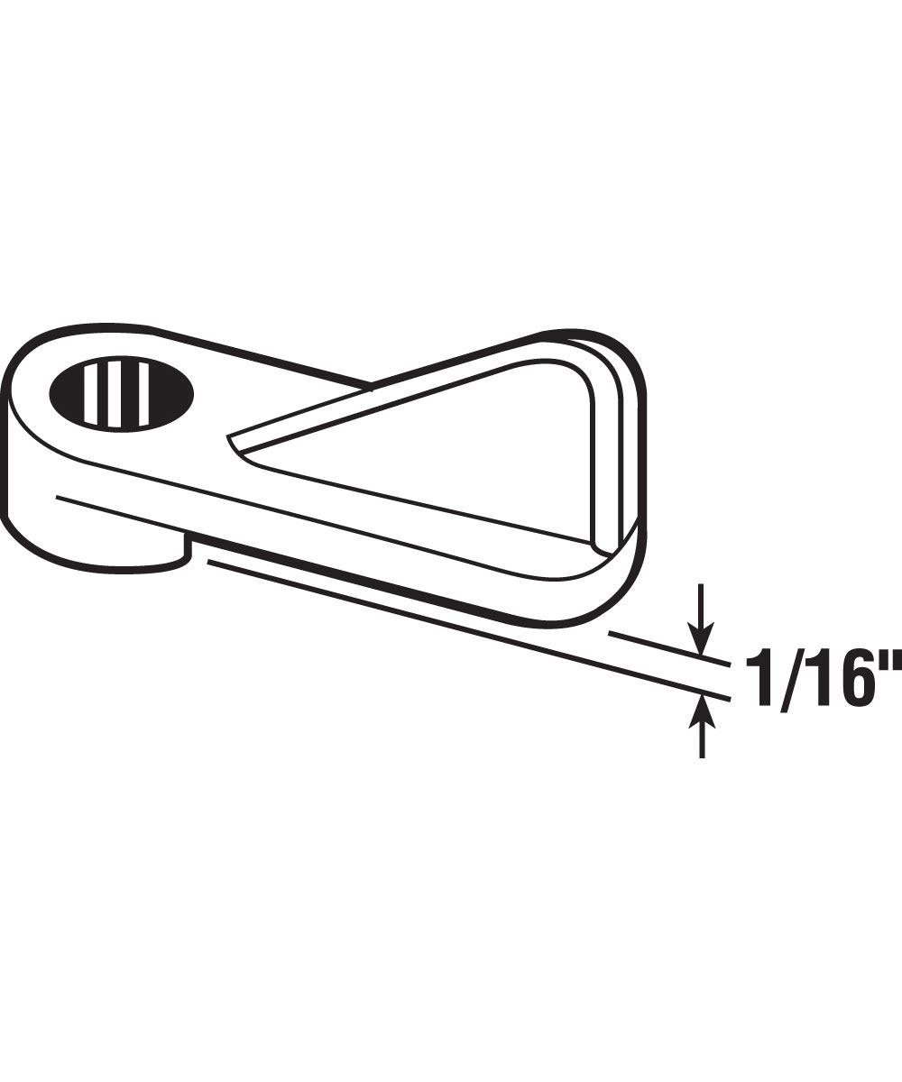 L 5767 Window Screen Clip, 1/16-Inch, Gray Plastic,(Pack of 8)