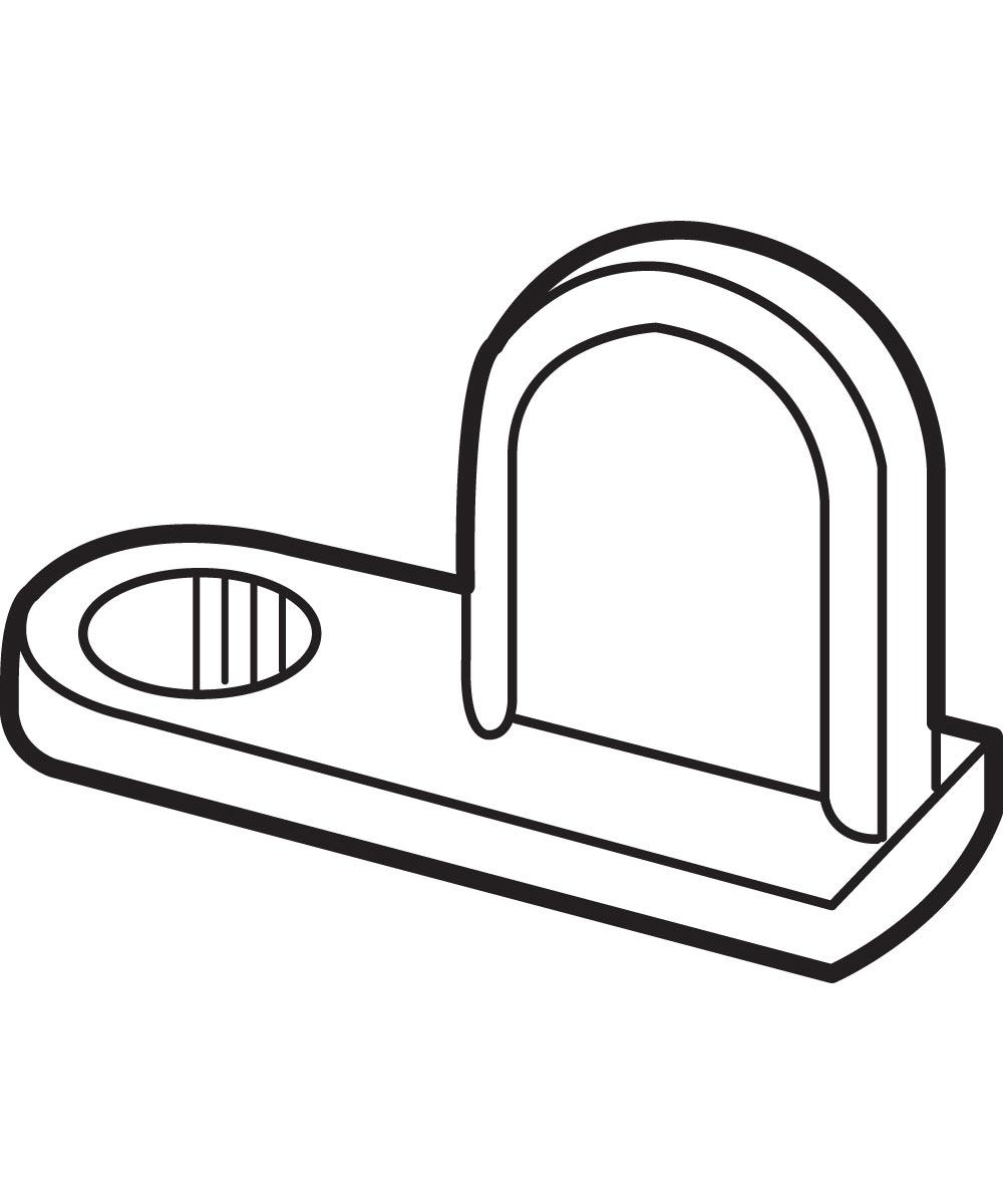 L 5761 Window Screen Clip, Flush, Diecast, Zinc,(Pack of 8)