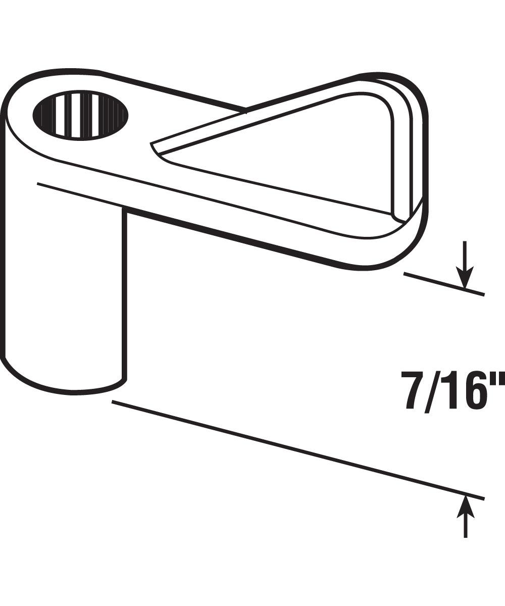 L 5769 Window Screen Clip, 7/16-Inch, Grey Plastic,(Pack of 8)