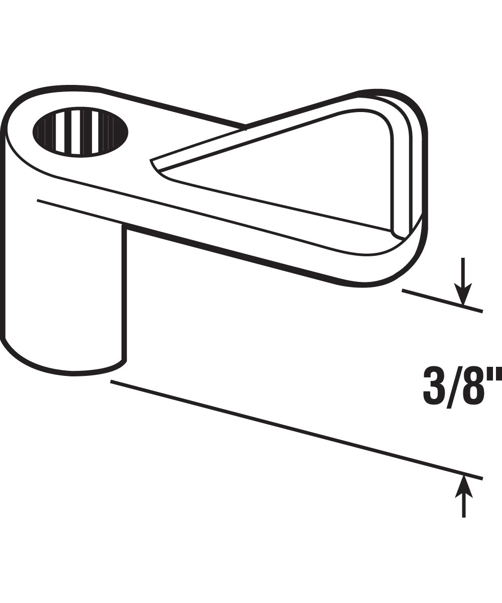 L 5830 Screen Clips with 1-Inch Screws, 3/8-Inch, Grey,(Pack of 8)
