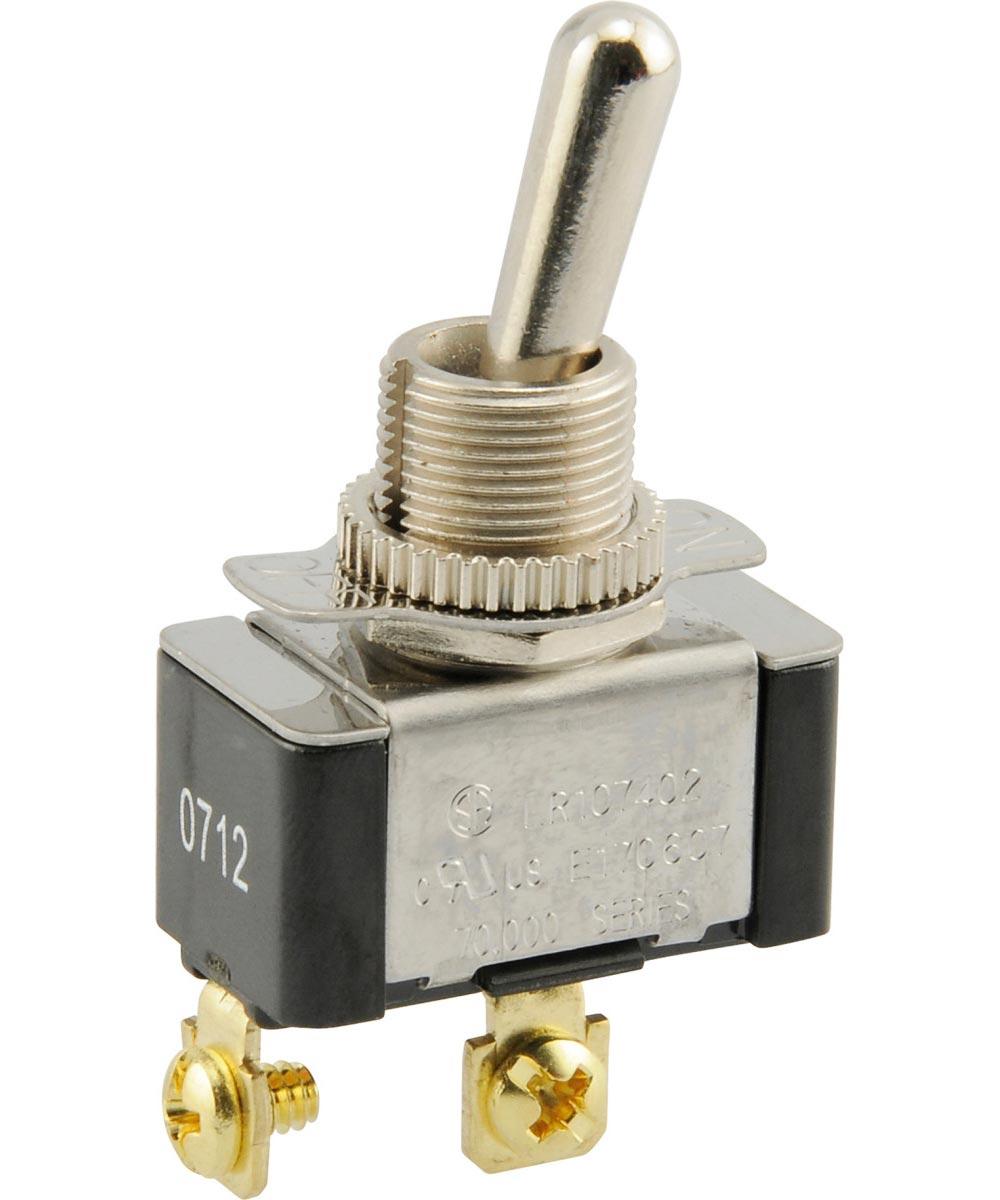 SPST Toggle Switch (20 Amp-125 Volt x 10 Amp-277 Volt)