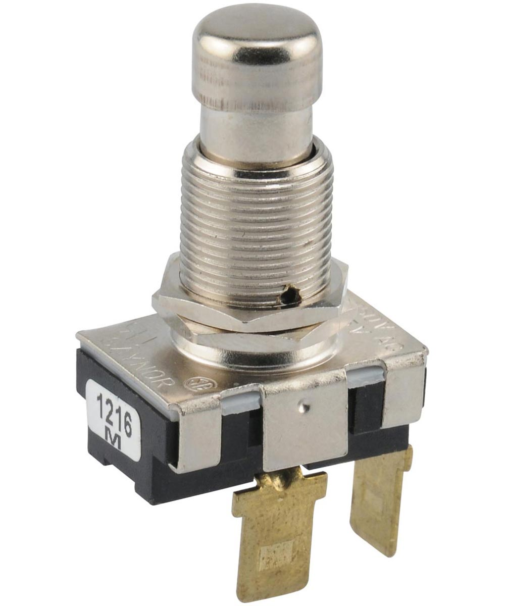 Normally On Quick Connect Terminal Momentary Switch (15 Amp-125 Volt x 10 Amp-250 Volt)