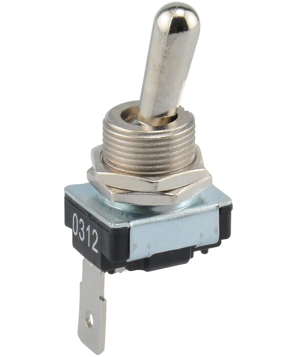 SPST On-Off Shorting Toggle Switch (21 Amp-14 Volt)