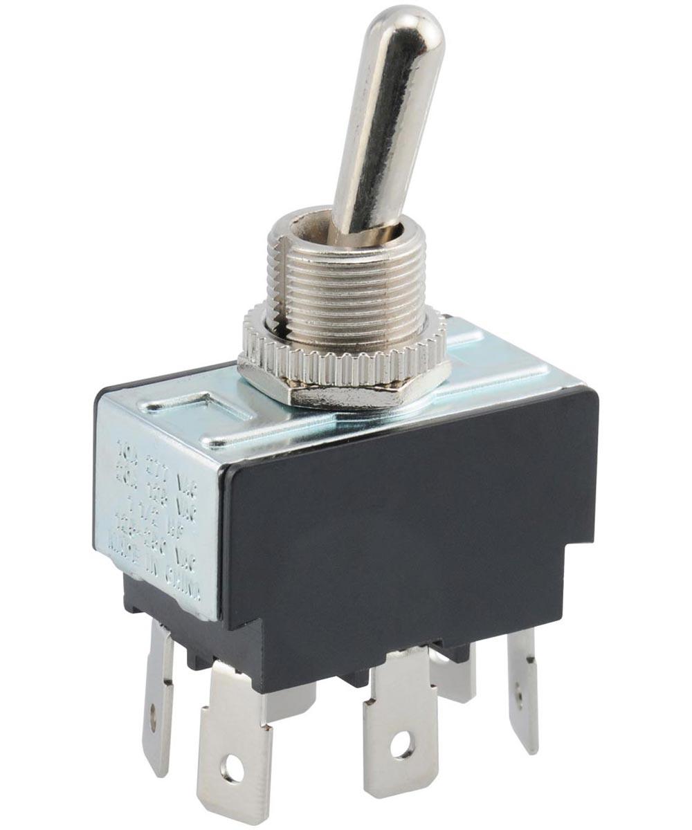 DPDT Center Off Quick Connect Terminal (20 Amp-125 Volt x 10 Amp-250 Volt)