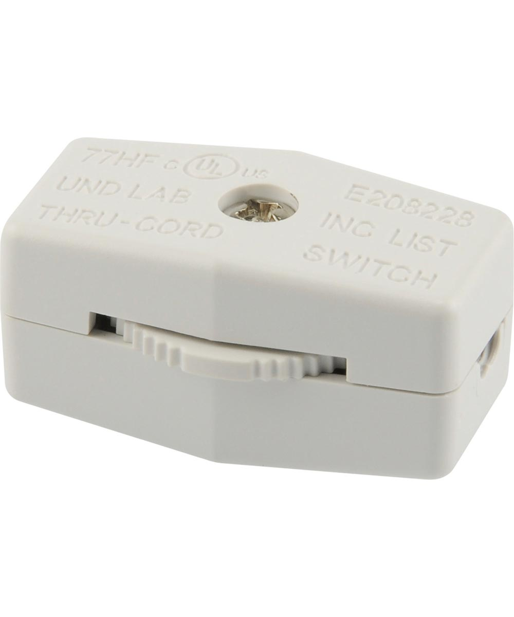 White Lamp Cord Switch (3 Amp-120 Volt)