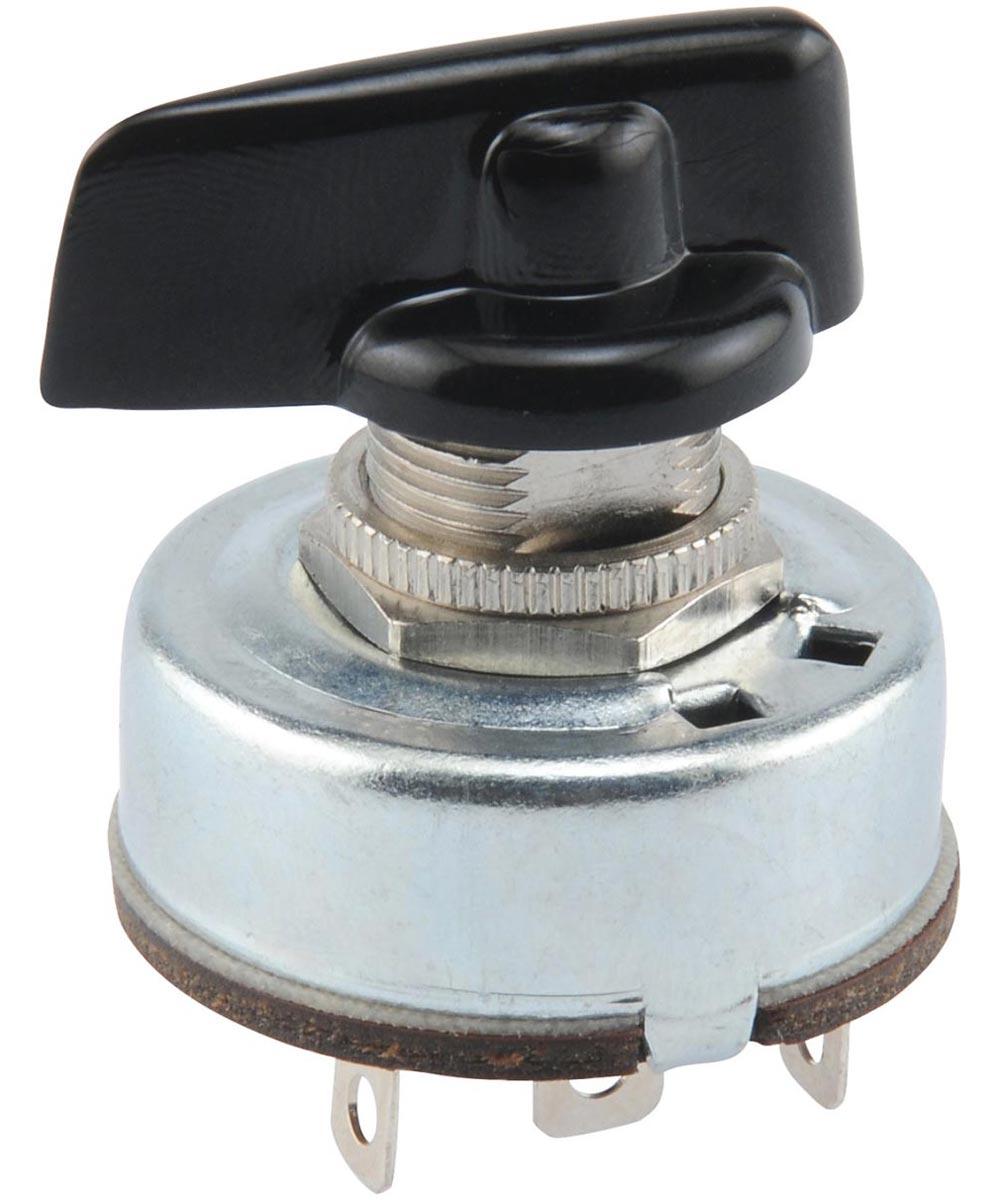 3-Speed Rotary Switch w/ 4 Solder Terminals (4 Amp-125 Volt x 2 Amp-250 Volt)