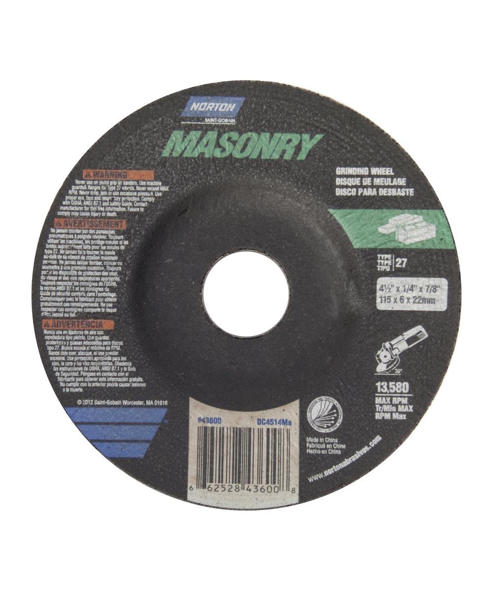 4-1/2 in. x 1/4 in. x 7/8 in. Masonry Grinding Wheel