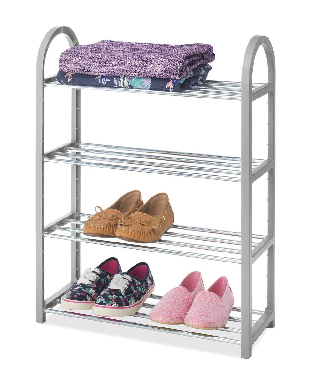 4-Tier Compact Closet Shelves