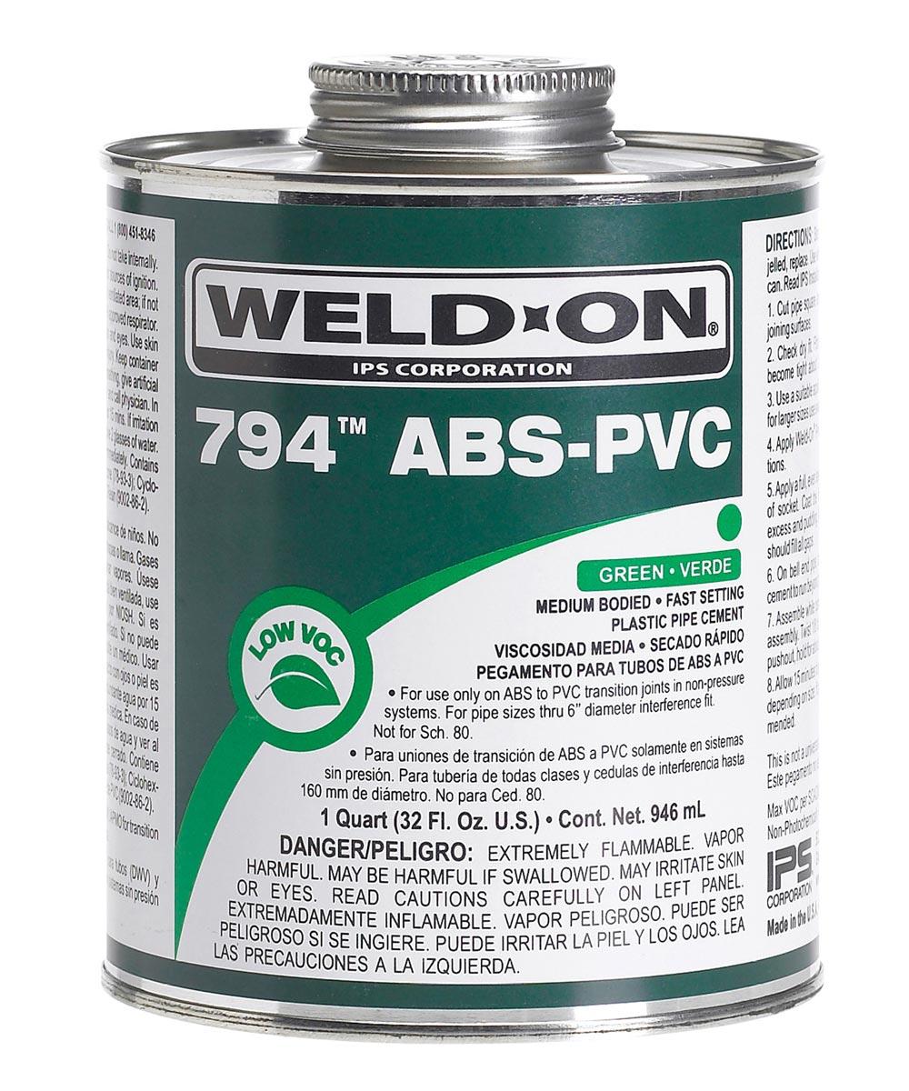 1 Quart Green 794 Abs-PVC Cement