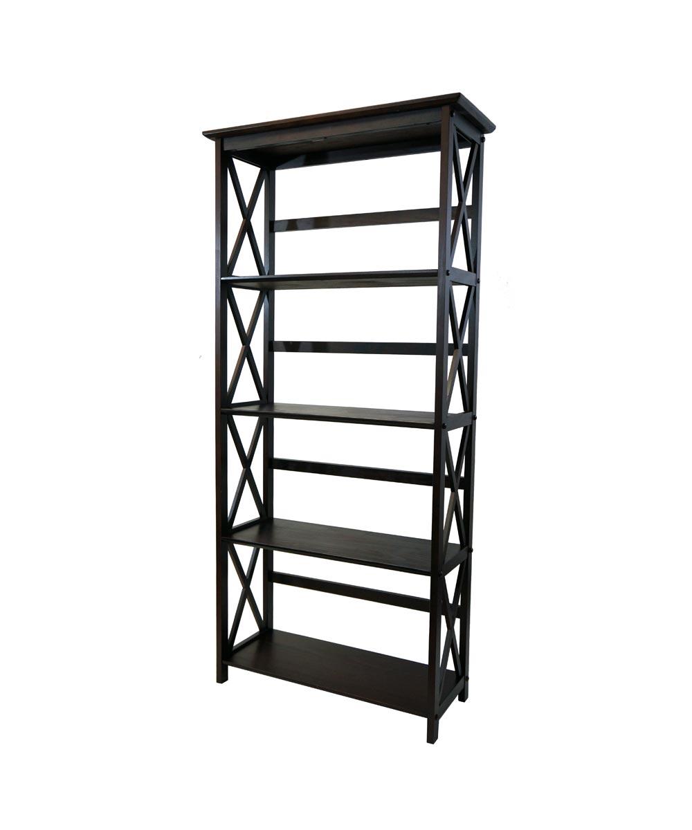 Montego 5-Shelf Bookcase, Espresso