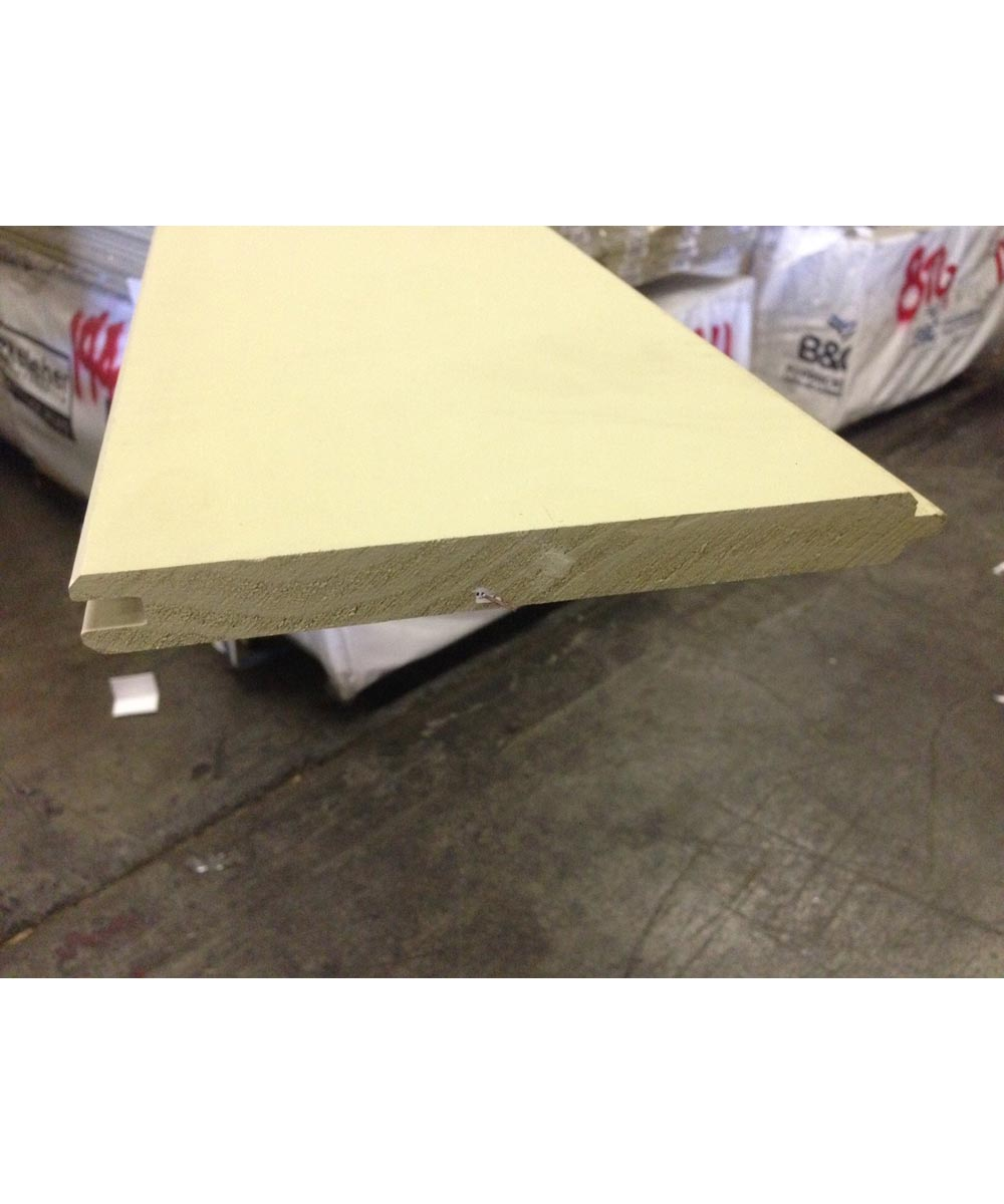1 in. x 8 in. x 8 ft. Treated Primed Pine Tongue & Groove Siding