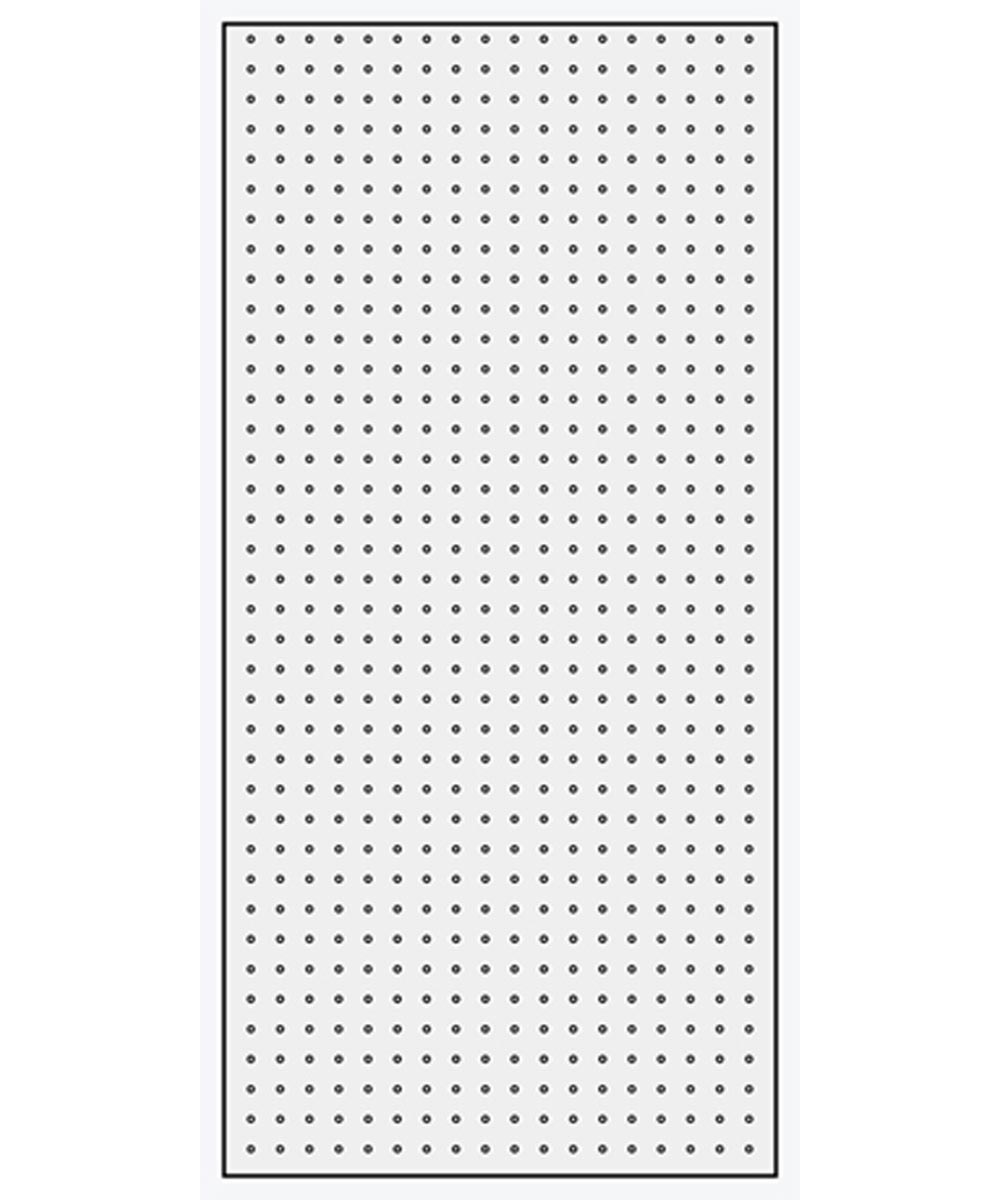 1/4 in. x 2 ft. x 4 ft. White Pegboard