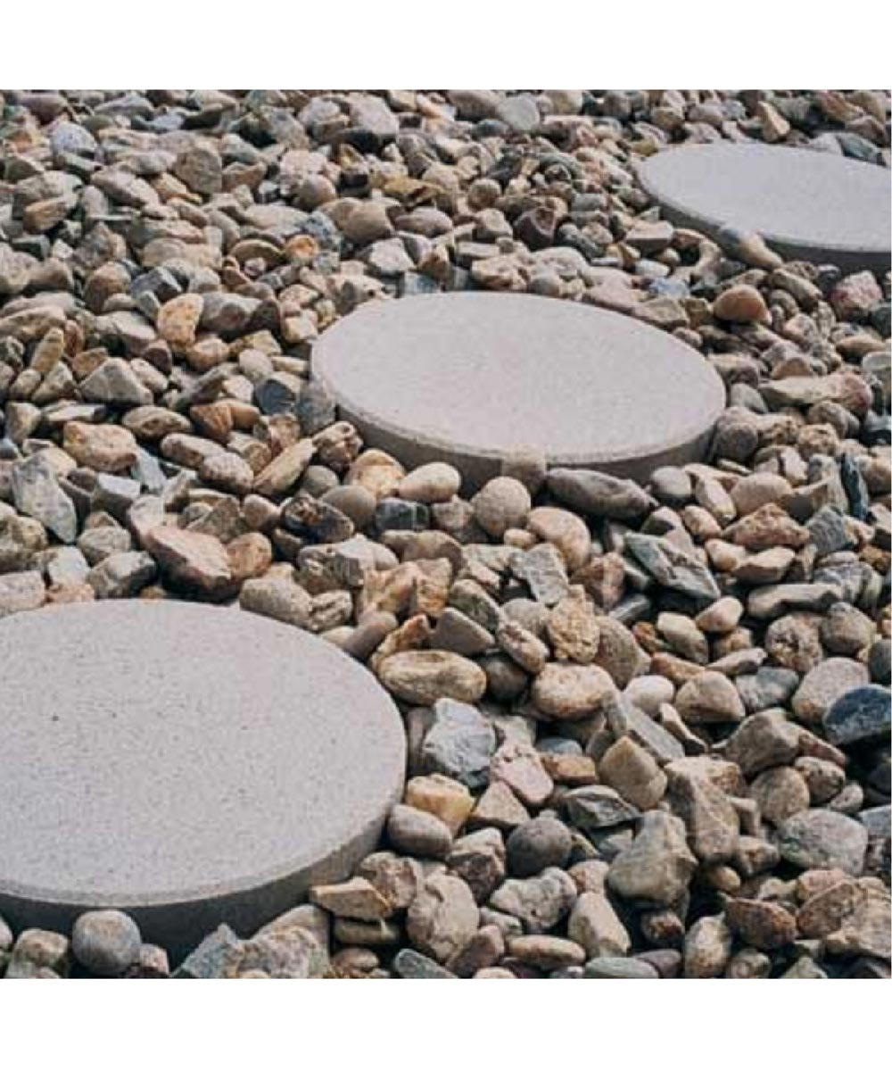 12 in. x 2 in. Gray Concrete Circle Patio Block