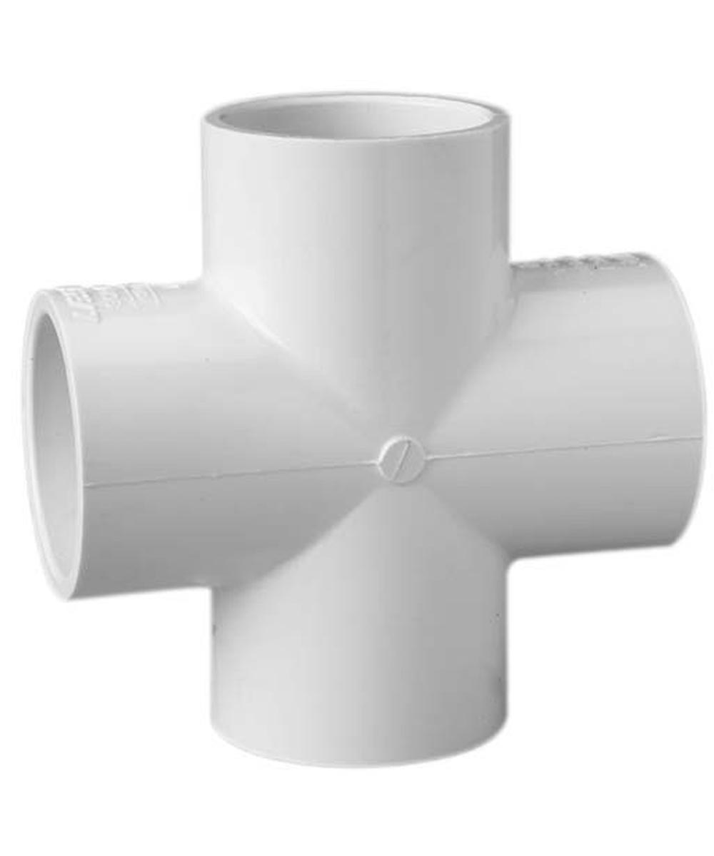 1/2 in. PVC Cross, Slip