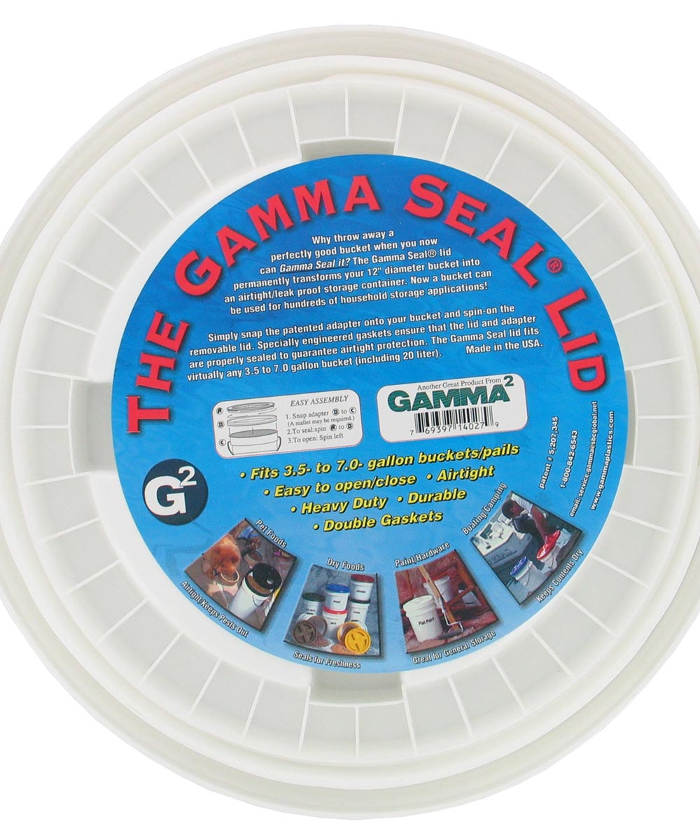 The Gamma Seal Airtight & Leak Proof Gasket Bucket Lid (Fits 3.5 to 7 Gallons)