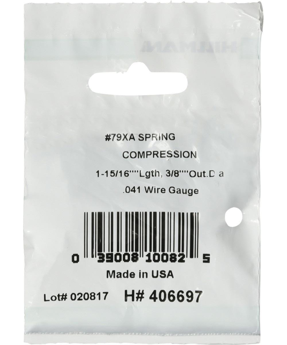 #79XA Compression Spring, 3/8 in. (Diam) x 1-15/16 in. (L)