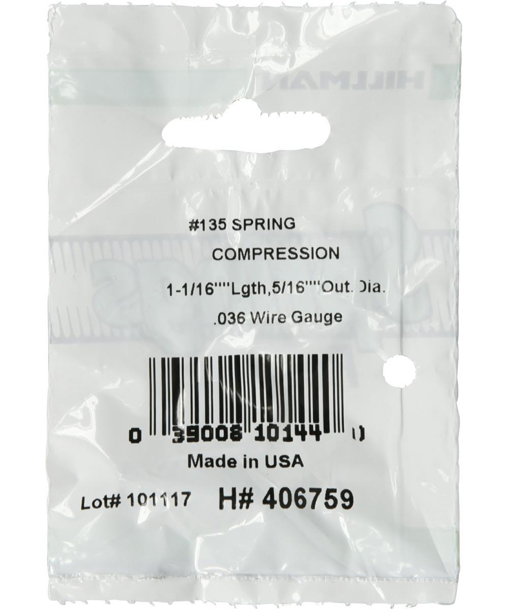 #135 Compression Spring, 5/16 in. (Diam) x 1-1/16 in. (L)