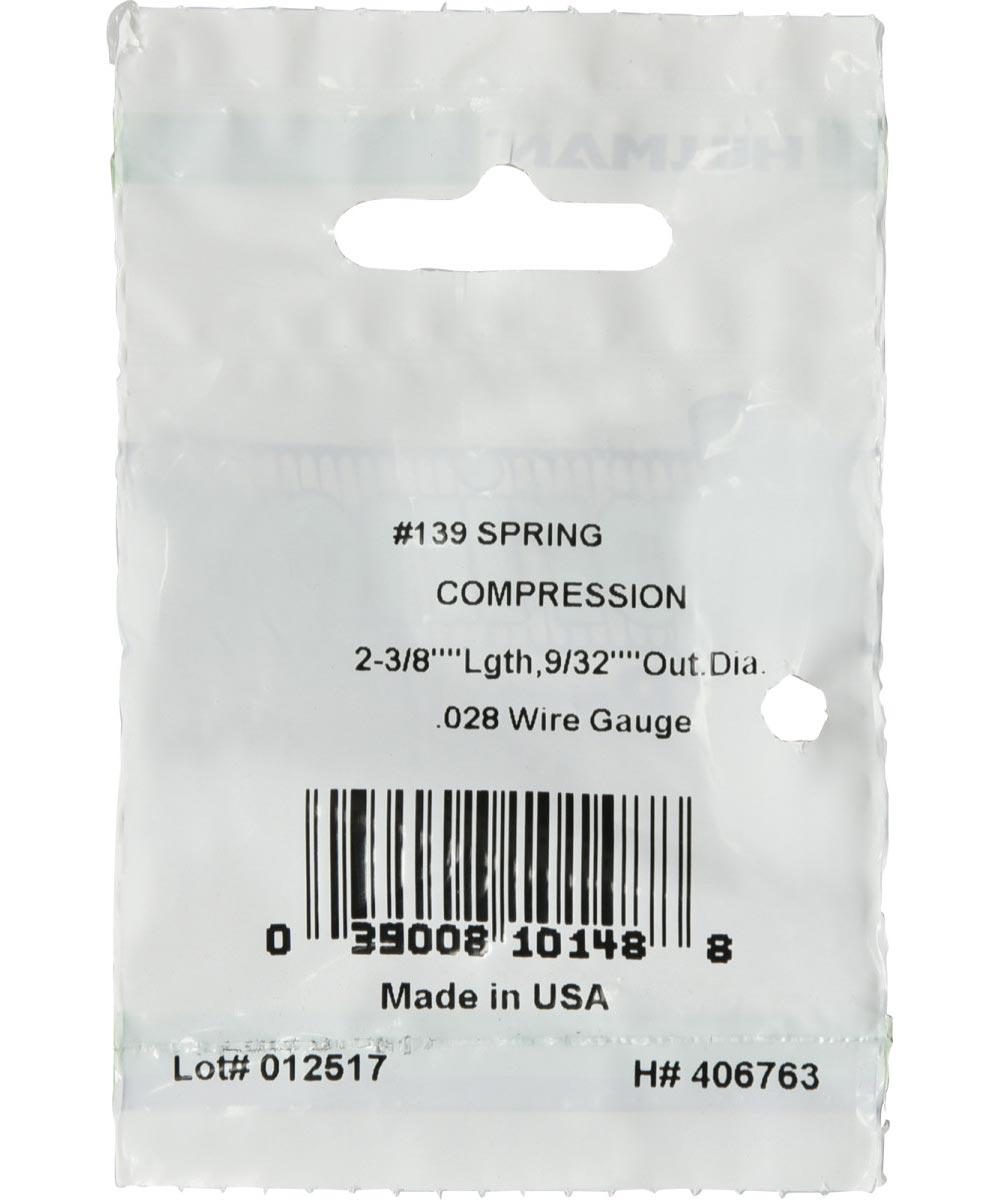 #139 Compression Spring, 9/32 in. (Diam) x 2-3/8 in. (L)